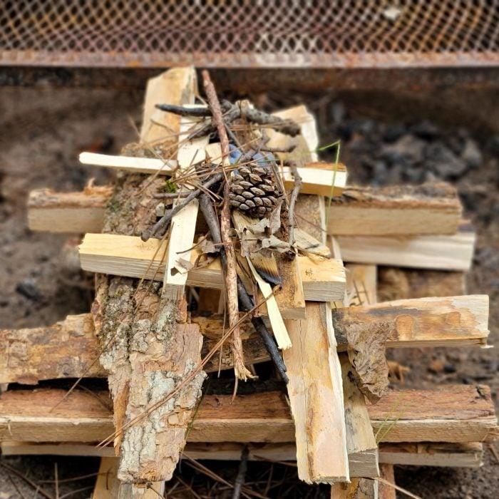 Campfire Log Cabin