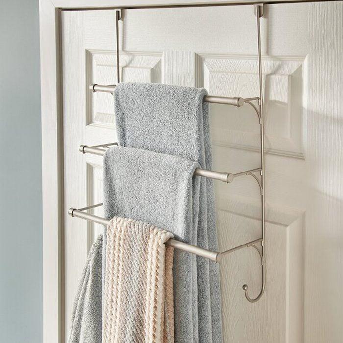 Over The Door Towel Bar Rack
