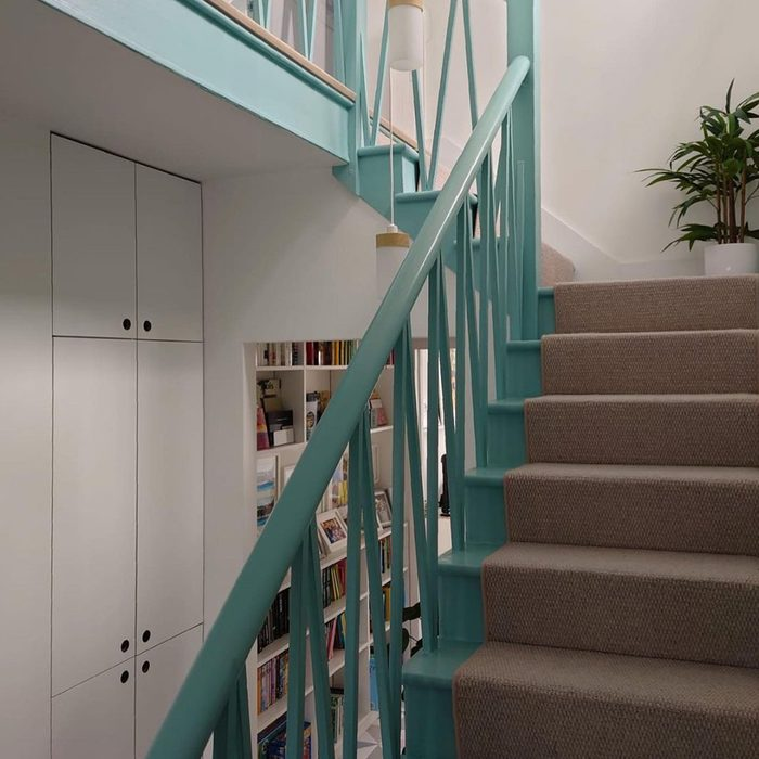 Painted Stairs With Painted Banister