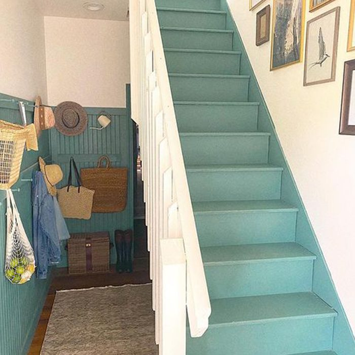 Teal Painted Stairs
