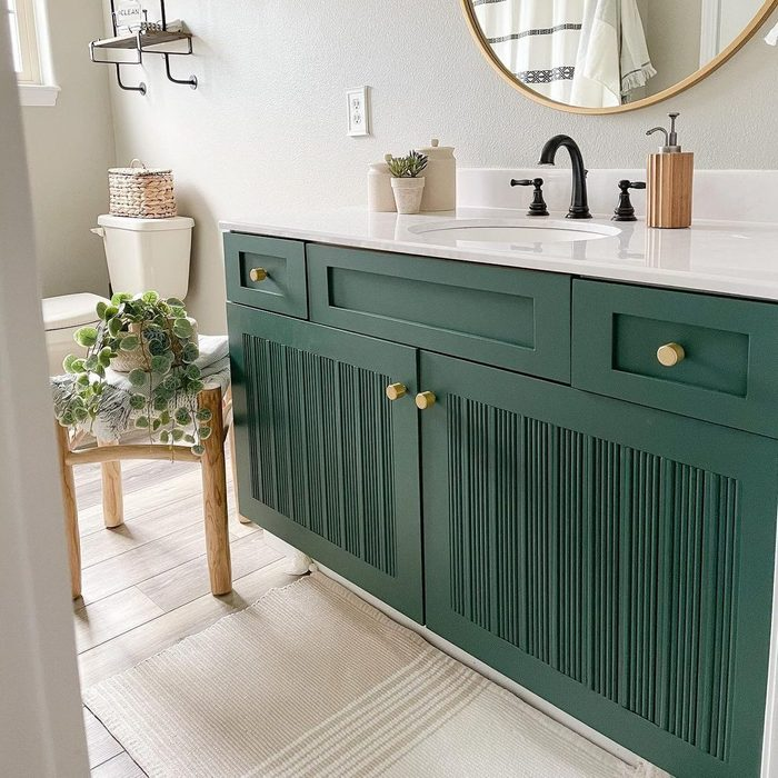 Fluted Wood Bathroom Vanity