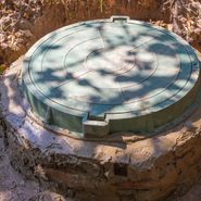closed septic tank for a house