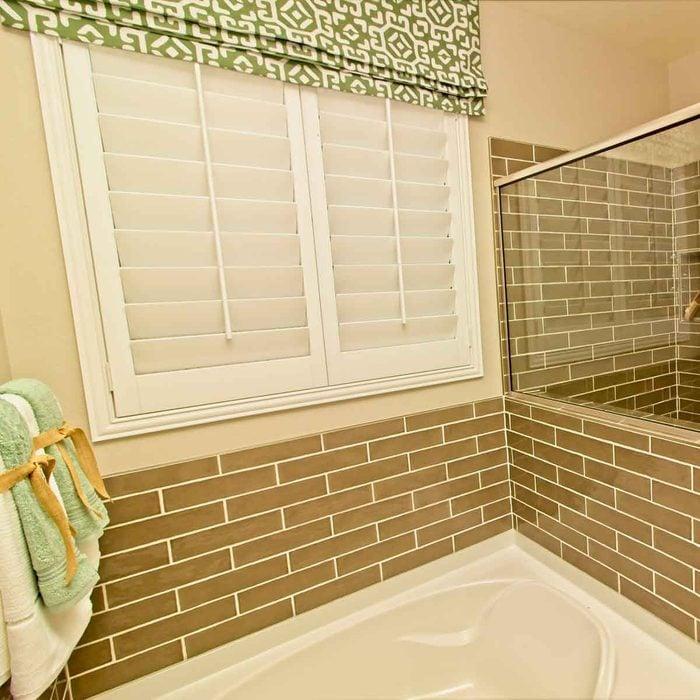 Bathroom Shutters And Curtain
