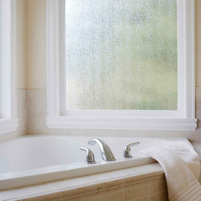 Frosted Bathroom Window Treatment