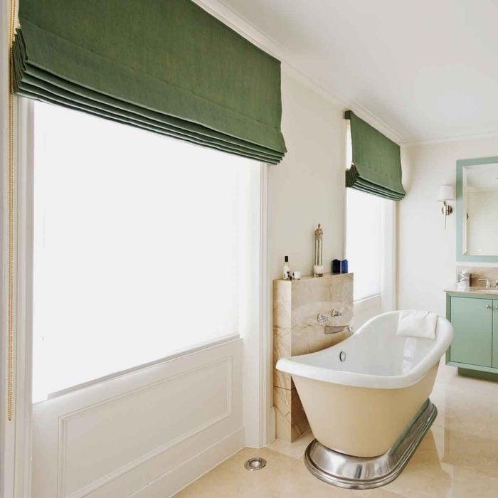 Green Bathroom Curtains