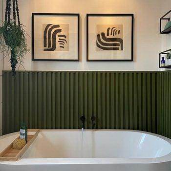 Modern Bathroom Wainscoting