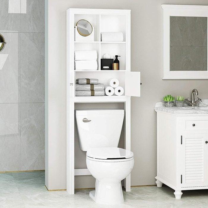 Spirich Home Over The Toilet Shelf White